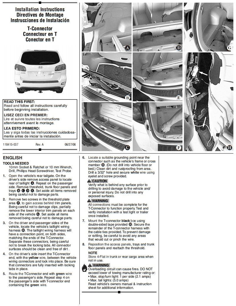 Tekonsha Trailer Hitch Wiring Tow Harness For Hyundai
